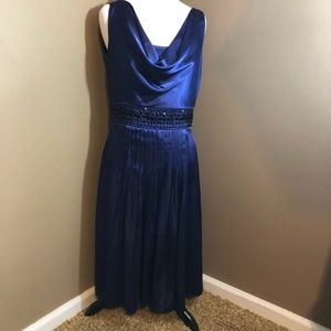 Eliza J New York Evening Gown Royal Blue Size 8